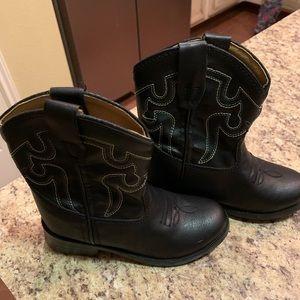 Infant Boys Black Cowboy Boots